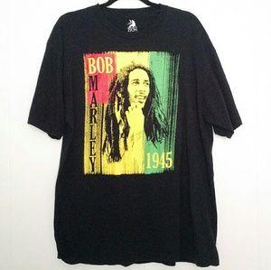 Zion Rootswear - Bob Marley 1945 Black Graphic Tee